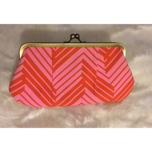 Pink and Orange Old Navy Clutch